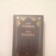 Libros: CATULO: POEMAS. TIBULO: ELEGÍAS. Lote 58555166