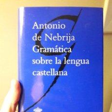 Libros: GRAMATICA SOBRE LA LENGUA CASTELLANA. ED. RAE, 2011. PERFECTO ESTADO. Lote 88936832