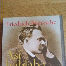 Libros: ASÍ HABLABA ZARATUSTRA, FRIEDRICH NIETZSCHE. Lote 100247915