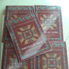 books - Lote de 5 libros de la colección grandes escritoras / La Pimpinela escarlata, Cumbres Borrascosas , - 121107560