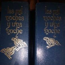 Libros: EL LIBRO DE LAS MIL Y UNA NOCHE. VERSIÓN DE VIVEN BLASCO IBÁÑEZ, ILUSTRACIONES DE JUAN MARIGOT. 2 VO. Lote 121967370