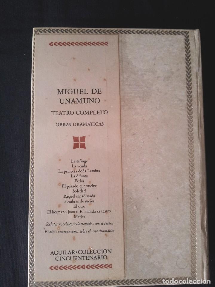 Libros: MIGUEL DE UNAMUNO - TEATRO COMPLETO - AGUILAR EDICION CINCUENTENARIO (SIN ABRIR) - Foto 3 - 124019339