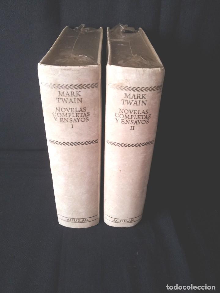 Libros: MARK TWAIN - NOVELAS COMPLETAS Y ENSAYOS (2 TOMOS) - AGUILAR EDICION CINCUENTENARIO (SIN ABRIR) - Foto 2 - 124020163