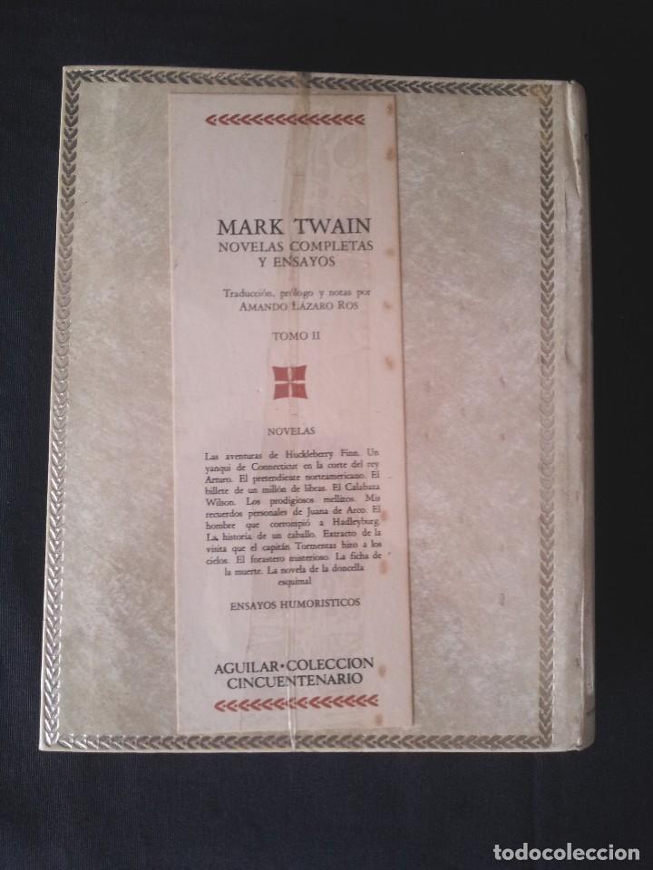 Libros: MARK TWAIN - NOVELAS COMPLETAS Y ENSAYOS (2 TOMOS) - AGUILAR EDICION CINCUENTENARIO (SIN ABRIR) - Foto 4 - 124020163
