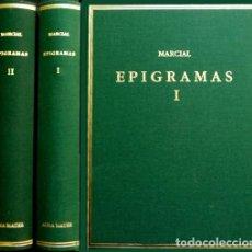 Libros: MARCIAL, MARCO VALERIO. EPIGRAMAS. [VOL. I: LIBROS 1 - 7. VOL. II: LIBROS 8 - 14]. 2004-2005.. Lote 139820174