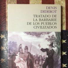Livres: TRATADO DE LA BARBARIE DE LOS PUEBLOS .... Lote 142151252