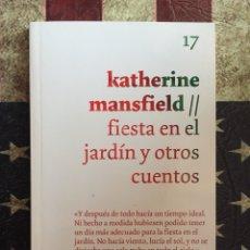 Libros: FIESTA EN EL JARDÍN Y OTROS CUENTOS. Lote 143887752