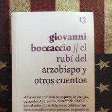 Libros: EL RUBÍ DEL ARZOBISPO Y OTROS CUENTOS. Lote 143892612