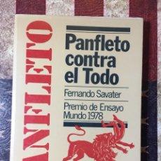 Libros: PANFLETO CONTRA TODO. Lote 143896656