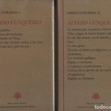 Libros: CUNQUEIRO, ÁLVARO. OBRAS LITERARIAS. TOMOS I Y II. MADRID: BIBLIOTECA CASTRO, S.D.. Lote 143926614
