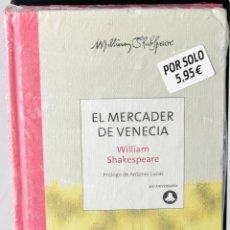 Libros: EL MERCADER DE VENECIA, WILLIAN SHAKESPEARE. COLECCIÓN 400 ANIVERSARIO. Lote 147966450