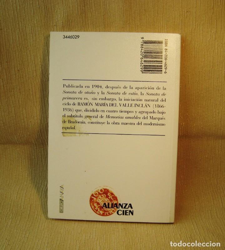 Libros: LIBRO SONATA DE PRIMAVERA. VALLE INCLÁN. - Foto 2 - 150989362