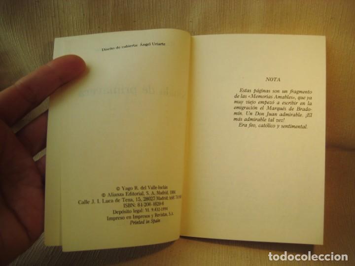 Libros: LIBRO SONATA DE PRIMAVERA. VALLE INCLÁN. - Foto 3 - 150989362