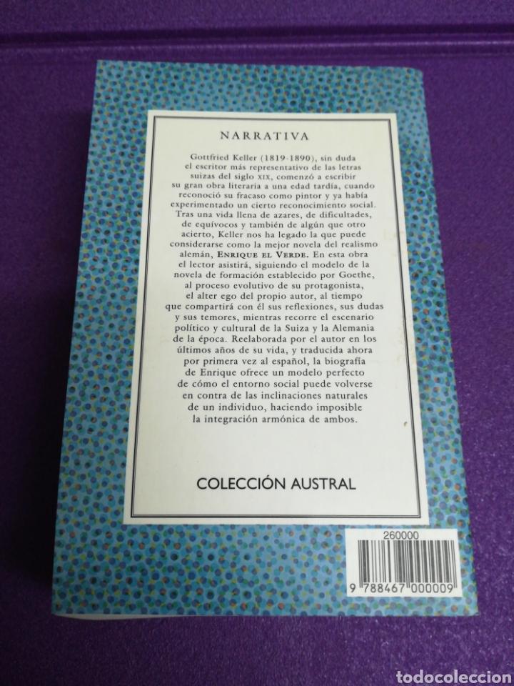 Libros: Enrique el Verde de Gottfried Keller. Colección Austral 523 Espasa 2001 Primera edición - Foto 2 - 156001308