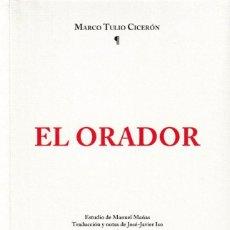 Libros: EL ORADOR (MARCO TULIO CICERÓN) I.F.C. 2019. Lote 165950122