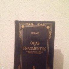 Libros: PÍNDARO: ODAS Y FRAGMENTOS. Lote 168784824