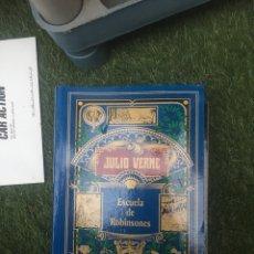 Libros: JULIO VERNE ESCUELA DE ROBINSONES. Lote 172178303