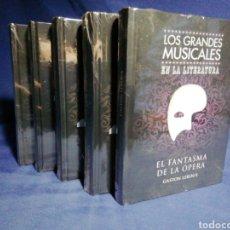 Libros: LOS GRANDES MUSICALES DE LA LITERATURA. EN EL PLÁSTICO. 5 LIBROS COMPLETA.. Lote 179040582