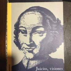 Libros: JUCIOS, VISIONES Y PARECERES. DIEGO DE TORRES VILLARROEL. BASICOS SALAMANCA 2002. Lote 182110861
