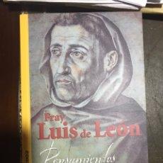 Libros: PENSAMIENTOS Y REFLEXIONES. FRAY LUIS DE LEON. BASICOS SALAMANCA 2002. Lote 182111203