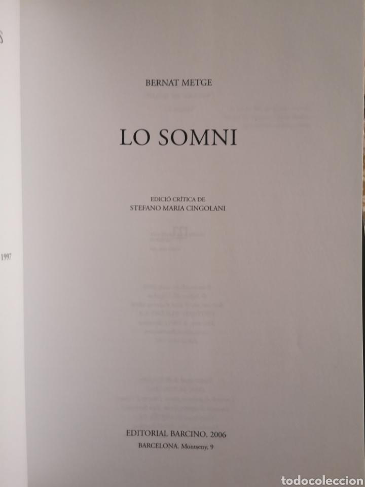 Libros: BERNAT METGE. Lo somni. Edició crítica Stefano Maria CINGOLANI. Barcino, 2006. - Foto 2 - 182597388