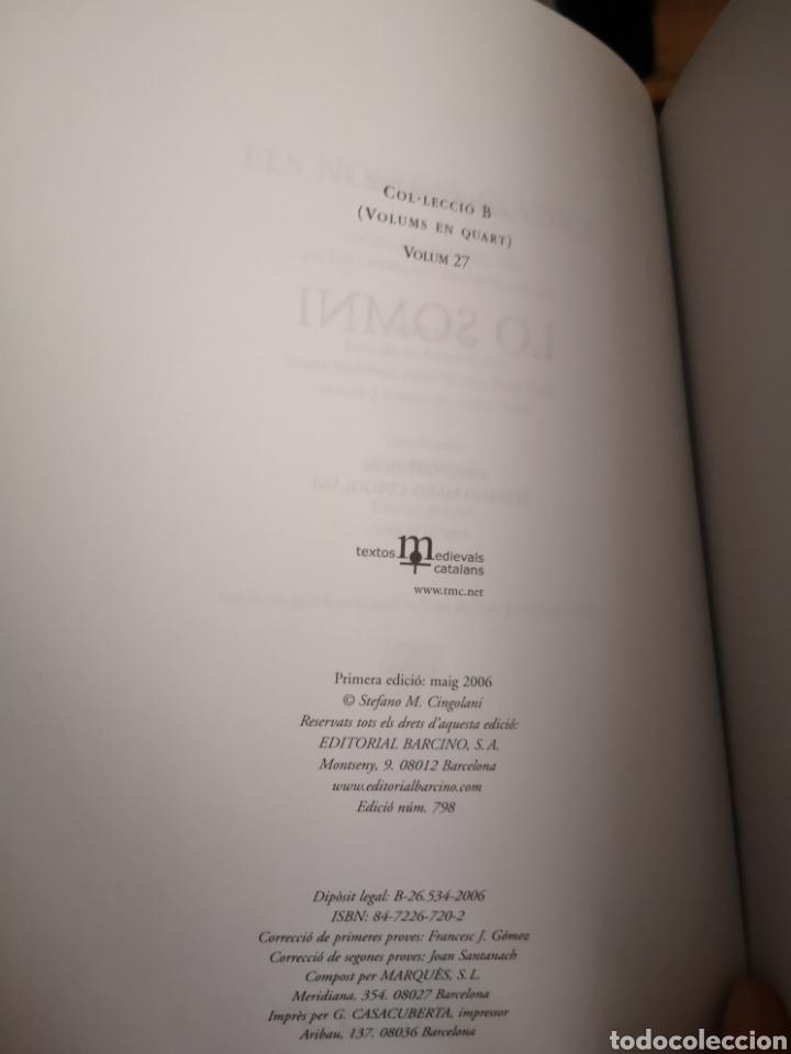 Libros: BERNAT METGE. Lo somni. Edició crítica Stefano Maria CINGOLANI. Barcino, 2006. - Foto 3 - 182597388