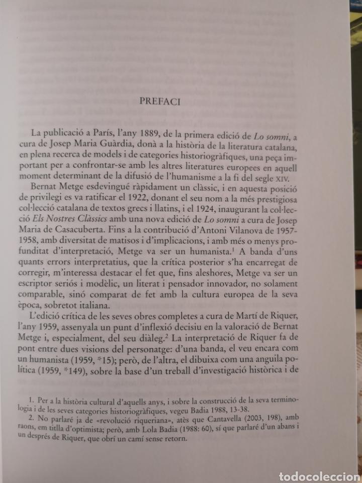 Libros: BERNAT METGE. Lo somni. Edició crítica Stefano Maria CINGOLANI. Barcino, 2006. - Foto 5 - 182597388