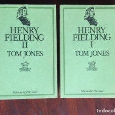 Libros: HENRY FIELDING I TOM JONES. 2 VOLUMENES. NOVELA INGLESA SOBRE LAS CONTRADICCIONES SOCIALES. Lote 182518333