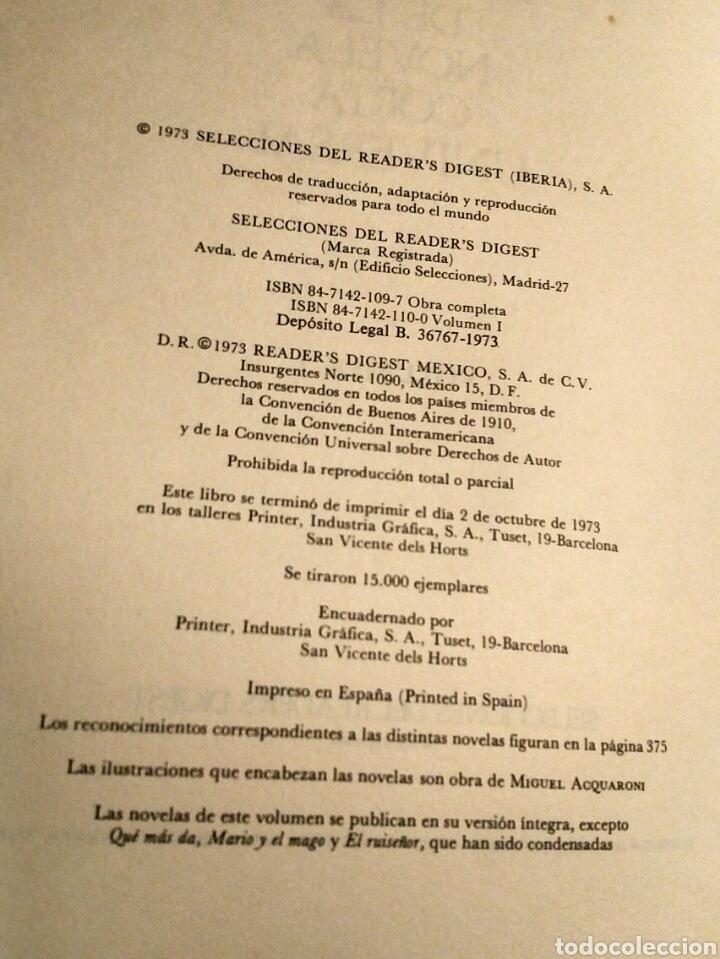 Libros: Antología novela corta universal 1 - Selecciones Readers Digest 1973 - Mann Twain Borges Joyce etc - Foto 4 - 194701520