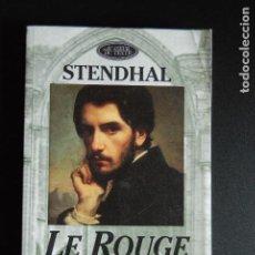 Libros: 5. STENDHAL - LE ROUGE ET LE NOIR - CHRONIQUE DU XIX Ê SIÈCLE. ED. HÉLENE DE JACQUELOT - CIDEB,1994 . Lote 198326956