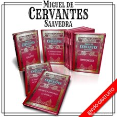 Libros: BIBLIOTECA CERVANTES. 9 LIBROS - MIGUEL DE CERVANTES SAAVEDRA (CARTONÉ) DESCATALOGADO!!! OFERTA!!!. Lote 201970636