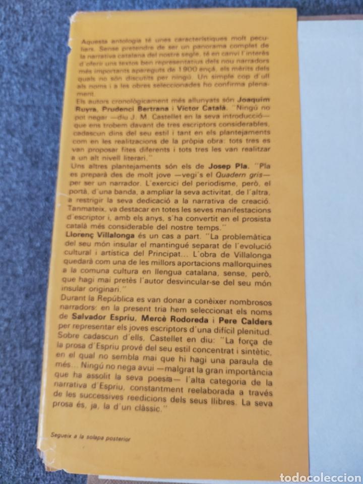 Libros: Narracions catalanes del segle XX edicions 62 - Foto 3 - 204189721