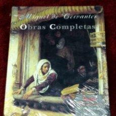 Libros: OBRAS COMPLETAS DE MIGUEL DE CERVANTES - EDICIONES CASTALIA - FLORENCIO SEVILLA. Lote 214035455