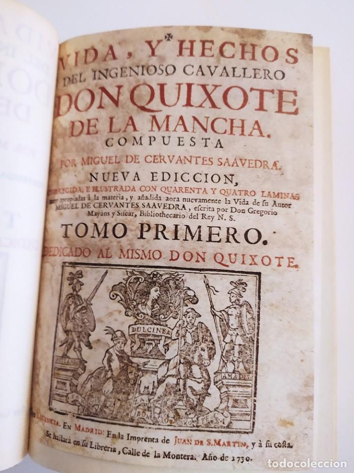 DON QUIXOTE DE LA MANCHA - OBRA FACSIMIL DEL AÑO 1730 (Libros Nuevos - Literatura - Narrativa - Clásicos Universales)