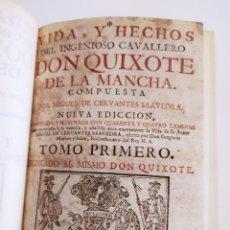 Libros: DON QUIXOTE DE LA MANCHA - OBRA FACSIMIL DEL AÑO 1730. Lote 217840722