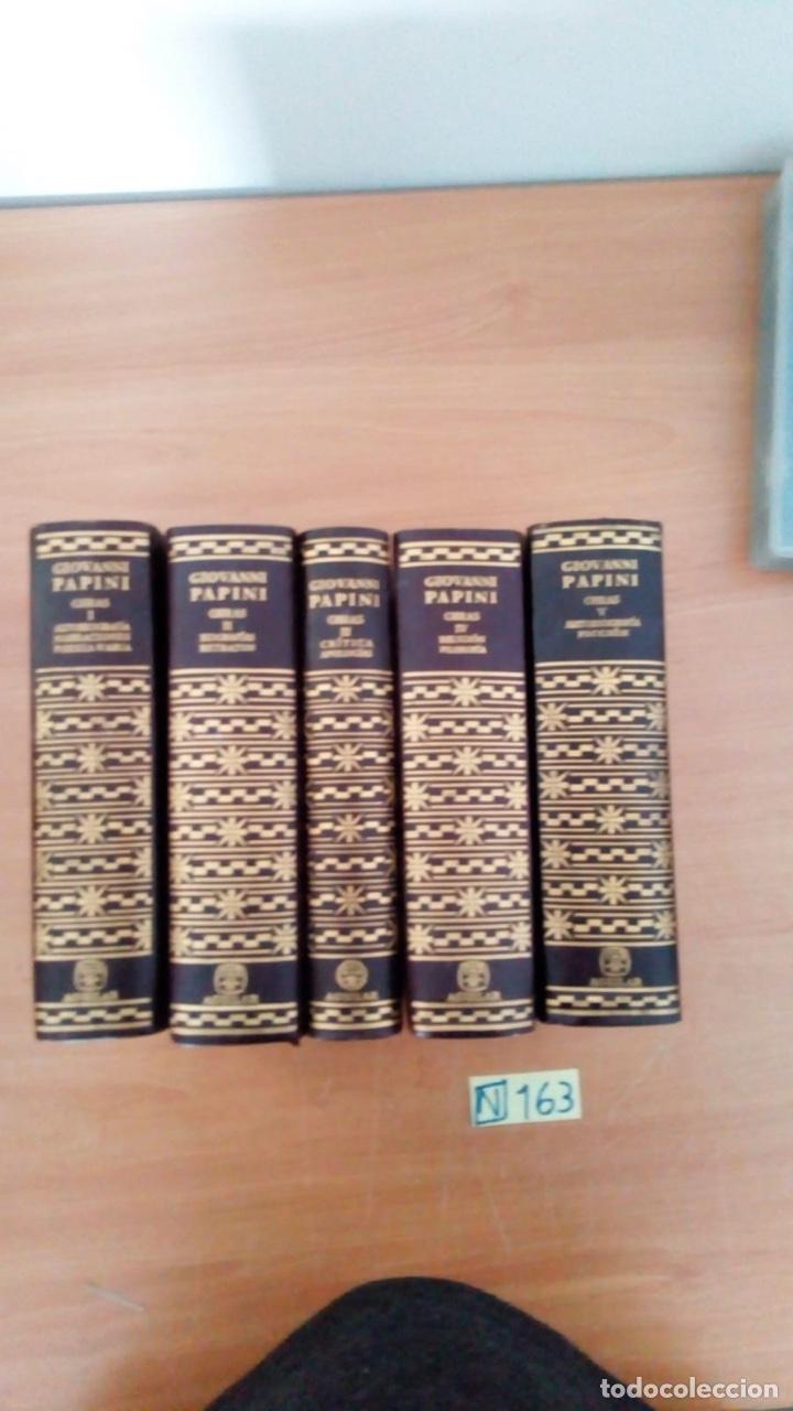 Libros: OBRAS COMPLETAS (5 VOLÚMENES) - GIOVANNI PAPINI EDITORIAL AGUILAR - Foto 3 - 218156137