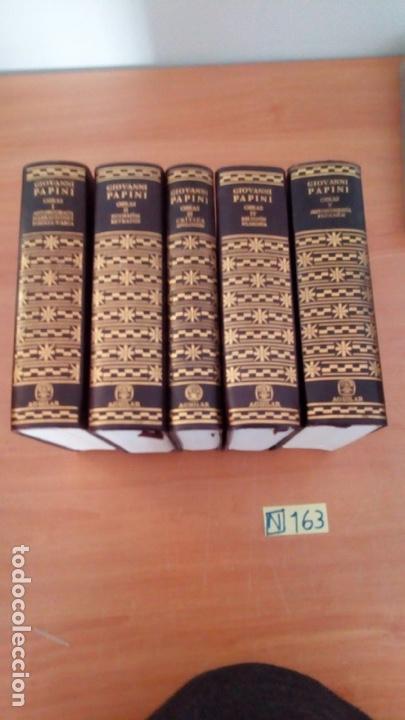 OBRAS COMPLETAS (5 VOLÚMENES) - GIOVANNI PAPINI EDITORIAL AGUILAR (Libros Nuevos - Literatura - Narrativa - Clásicos Universales)