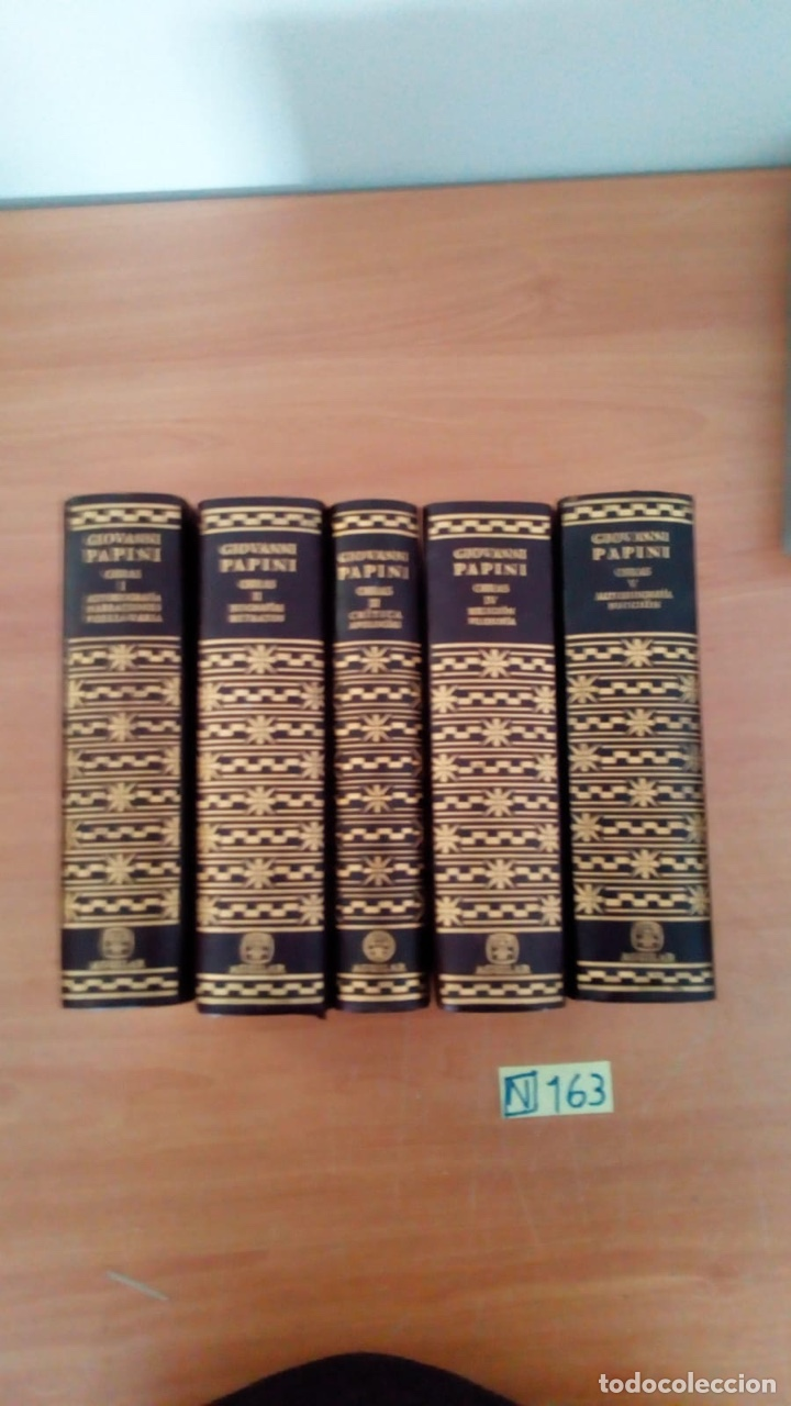 Libros: OBRAS COMPLETAS (5 VOLÚMENES) - GIOVANNI PAPINI EDITORIAL AGUILAR - Foto 6 - 218156137