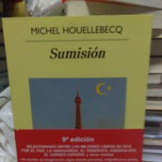 Libros: MICHAEL HOUELLEBECQ.SUMISIÓN.ANAGRAMA. Lote 218308107
