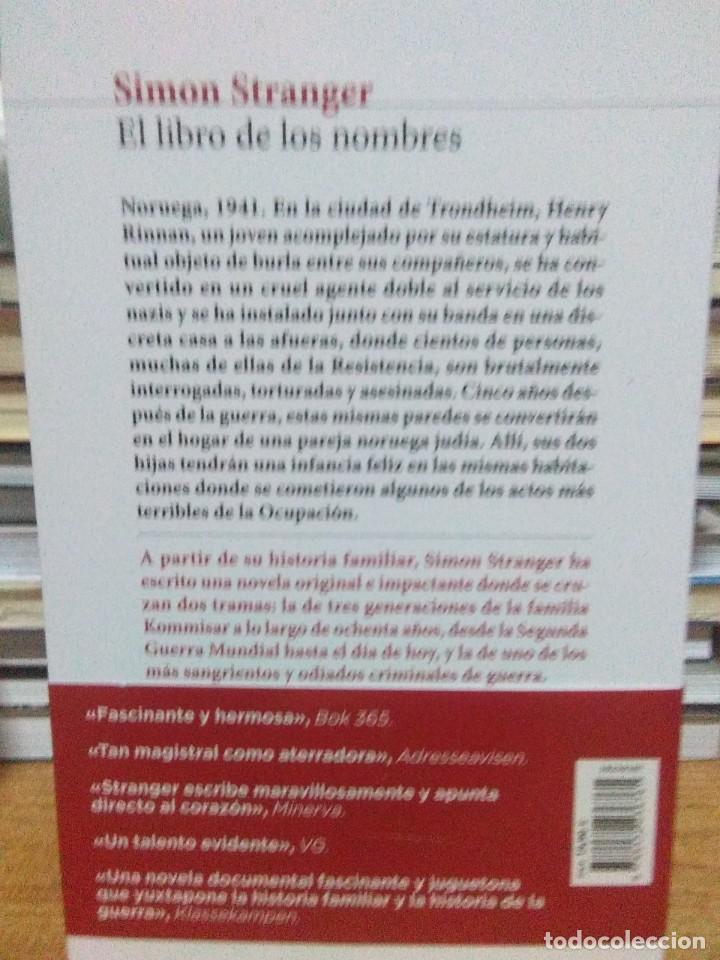 Libros: Simon Stranger.El libro delos nombres.SEIX&BARRAL - Foto 2 - 218542407