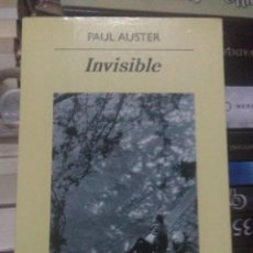 Libros: PAUL AUSTER.INVISIBLE.ANAGRAMA. Lote 218909567