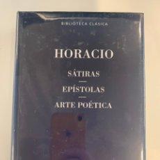 Livres: HORACIO - SÁTIRAS, EPÍSTOLAS, ARTE POÉTICA. Lote 219079222