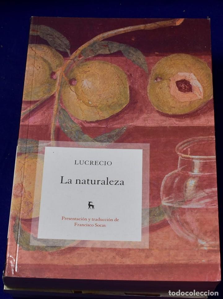 LA NATURALEZA: 033 (VARIOS GREDOS) - LUCRECIO, LUCRECIO; SOCAS GAVILAN, FRANCISCO (Libros Nuevos - Literatura - Narrativa - Clásicos Universales)