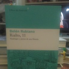 Libros: BELÉN RUBIANO . RIALTO 11 .LIBROS DEL ASTEROIDE. Lote 252083200