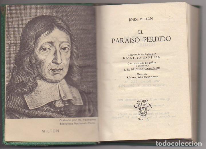 EL PARAISO PERDIDO JHON MILFON (Libros Nuevos - Literatura - Narrativa - Clásicos Universales)