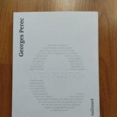 Libros: LA DISPARITION, GEORGES PEREC, LIBRO EN FRANCÉS. Lote 221665852