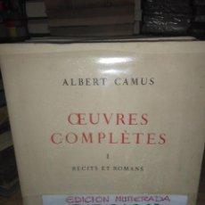 Libros: ALBERT CAMUS.OBRAS COMPLETAS(EDICIÓN EN FRANCÉS).1962.(6TOMOS).EDITOR ANDRE SAURET. Lote 222722466