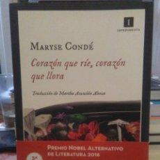 Libros: MARYSE CONDE.CORAZÓN QUE RÍE,CORAZÓN QUE LLORA.IMPEDIMENTA. Lote 224258731