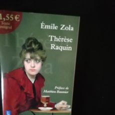 Libros: THERESE RAQUIN, ZOLA. Lote 224634036