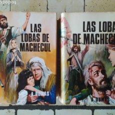 """Libros: """"LAS LOBAS DE MACHECUL"""" DE ALEJANDRO DUMAS.. Lote 224873136"""